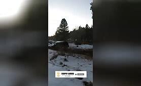 SUV close call almost crash