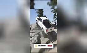 Rock crawling and flexing in the Toyota
