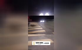 Illegal street drifting action
