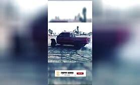 Insane chevy truck drifting non-stop! #shorts